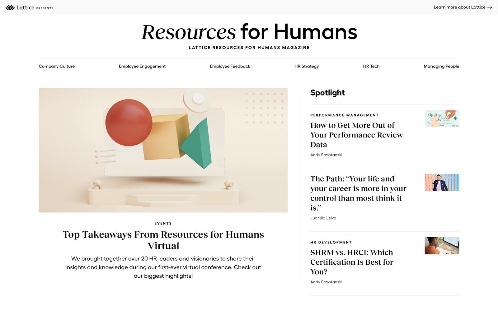 lattice's resources for humans magazine