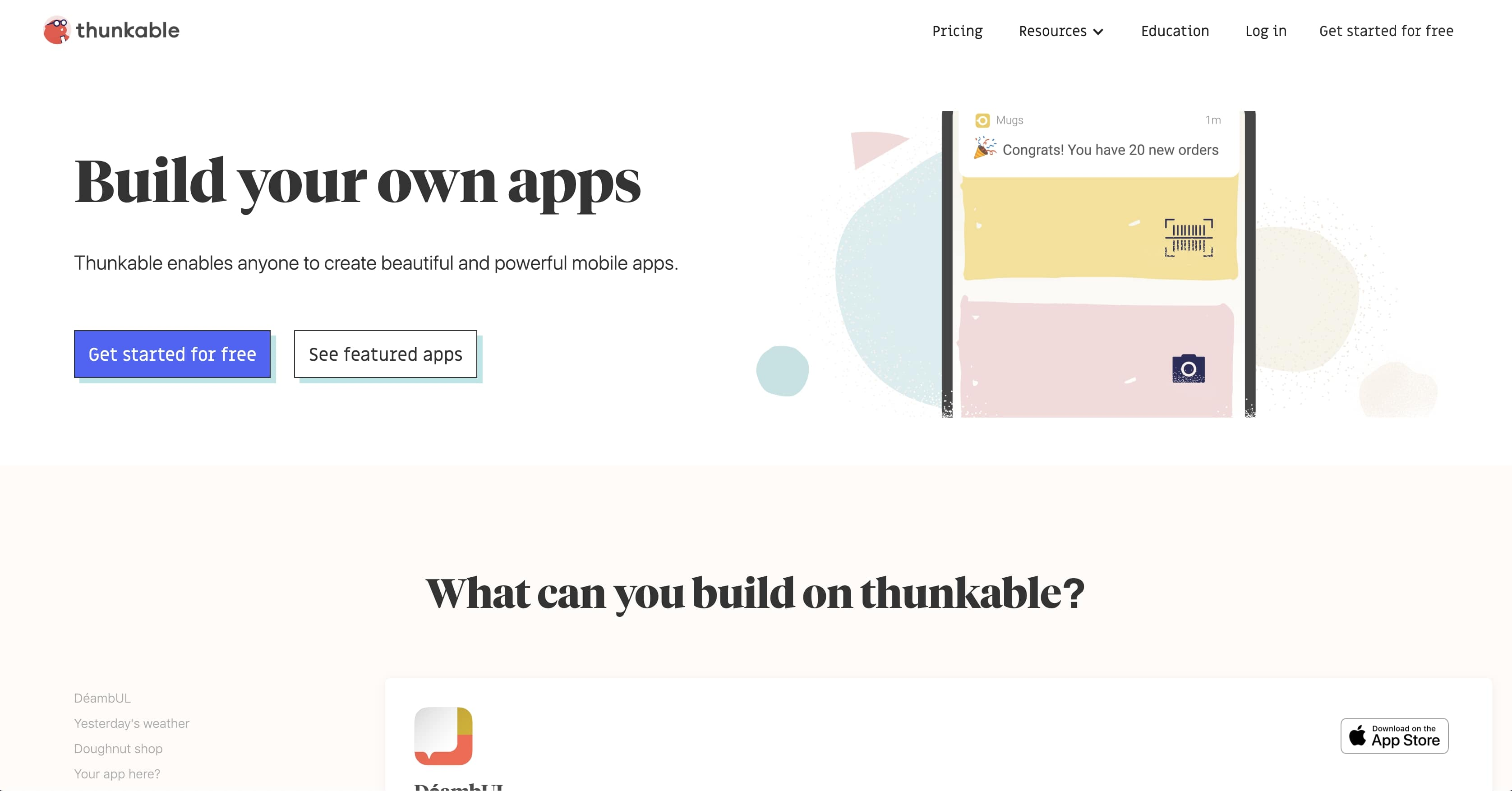 build mobile apps with thunkable