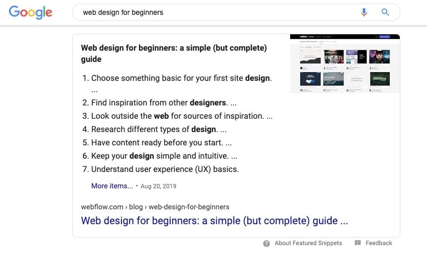 web design for beginners by webflow