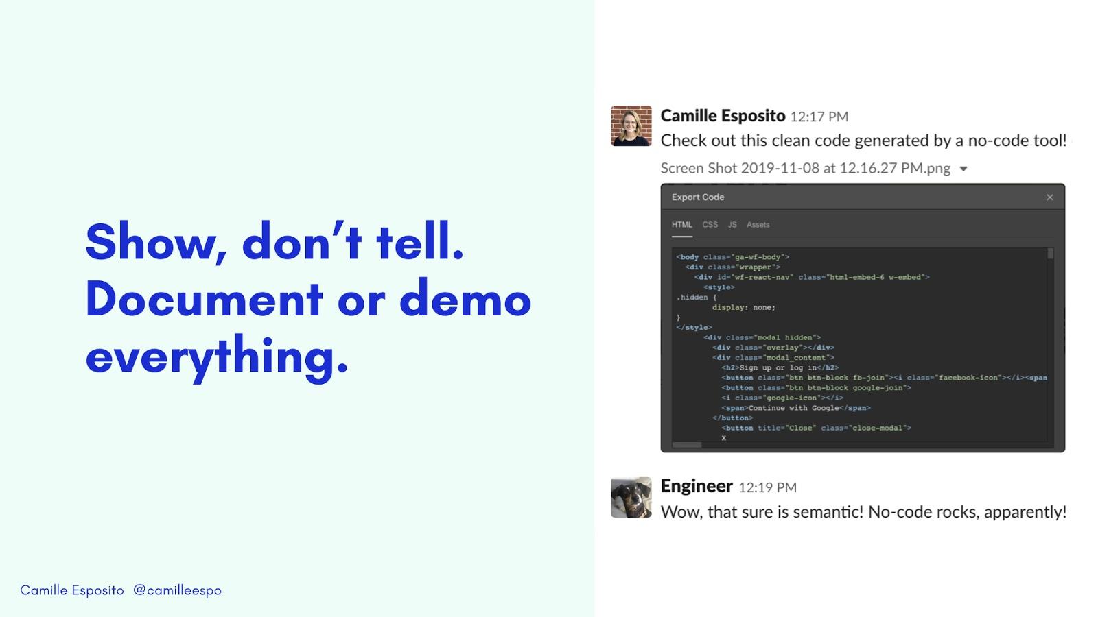 webflow creates clean code