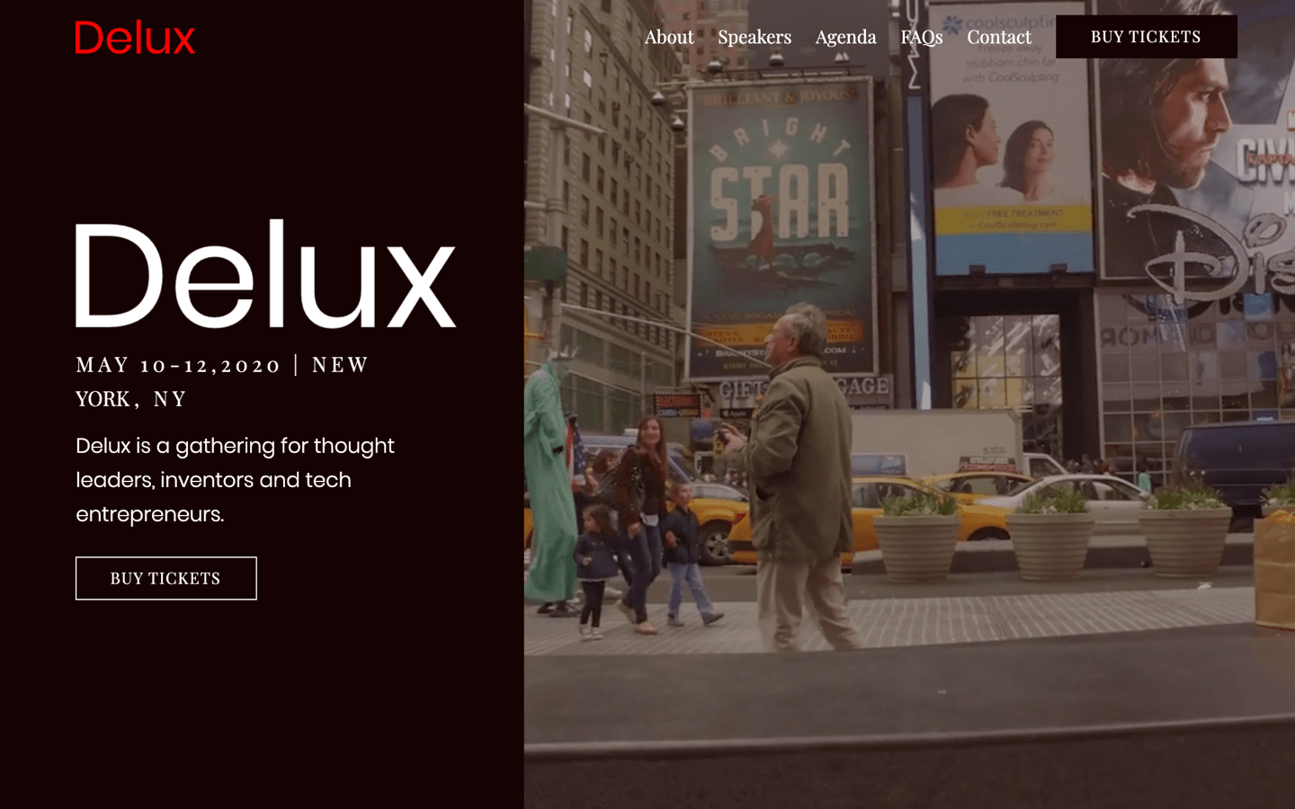 delux template homepage