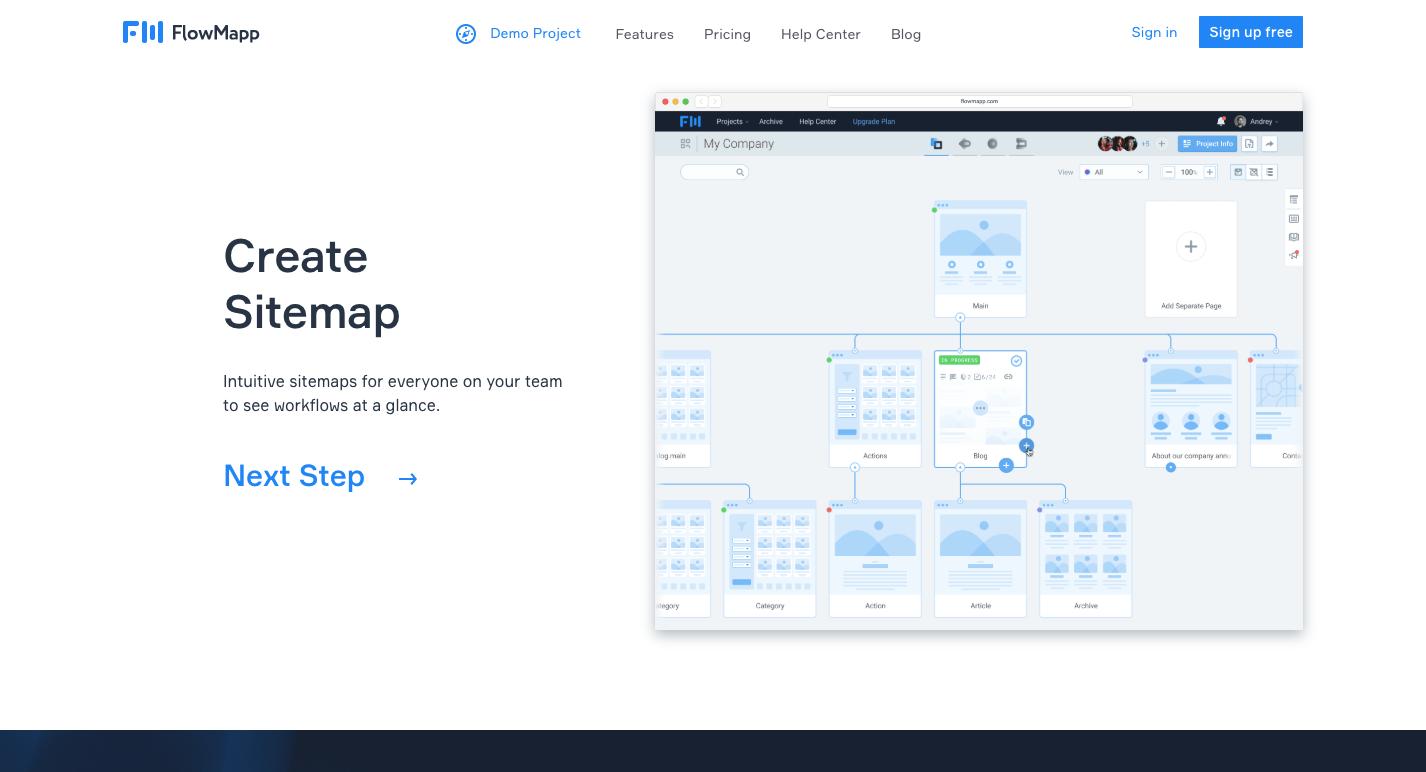 flowmapp sitemap