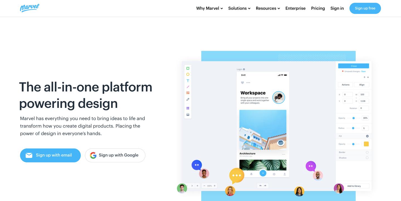 marvel design platform