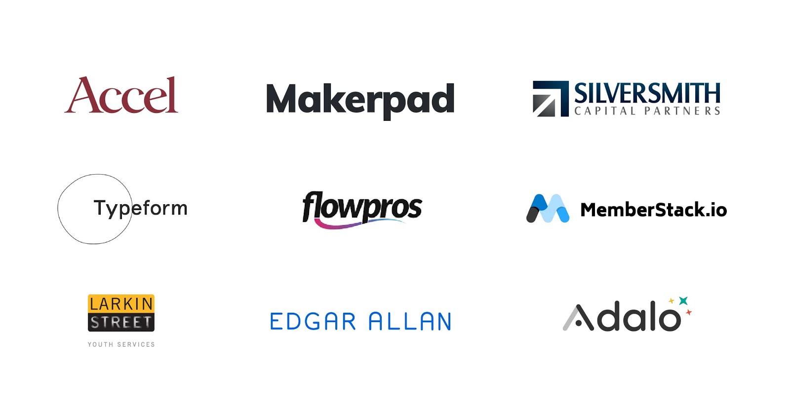 No Code Conf sponsor logos