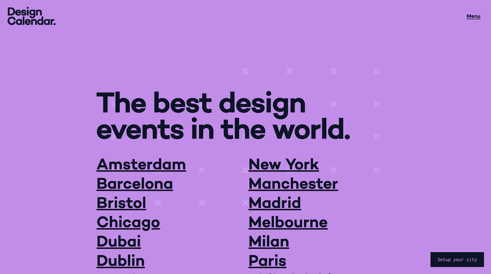 design calendar events