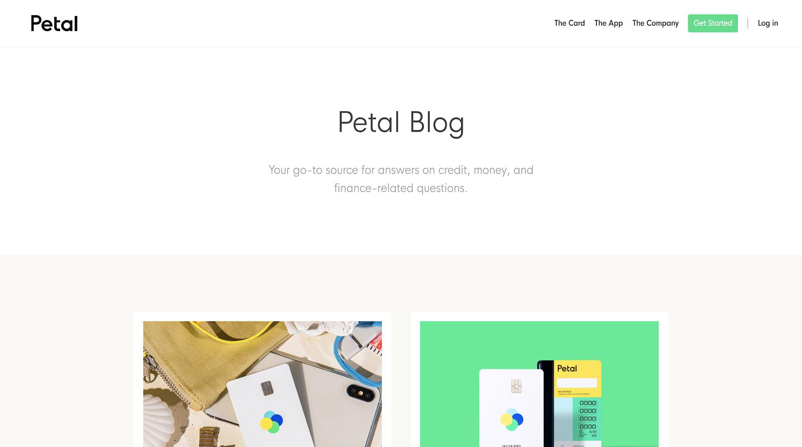 petal blog