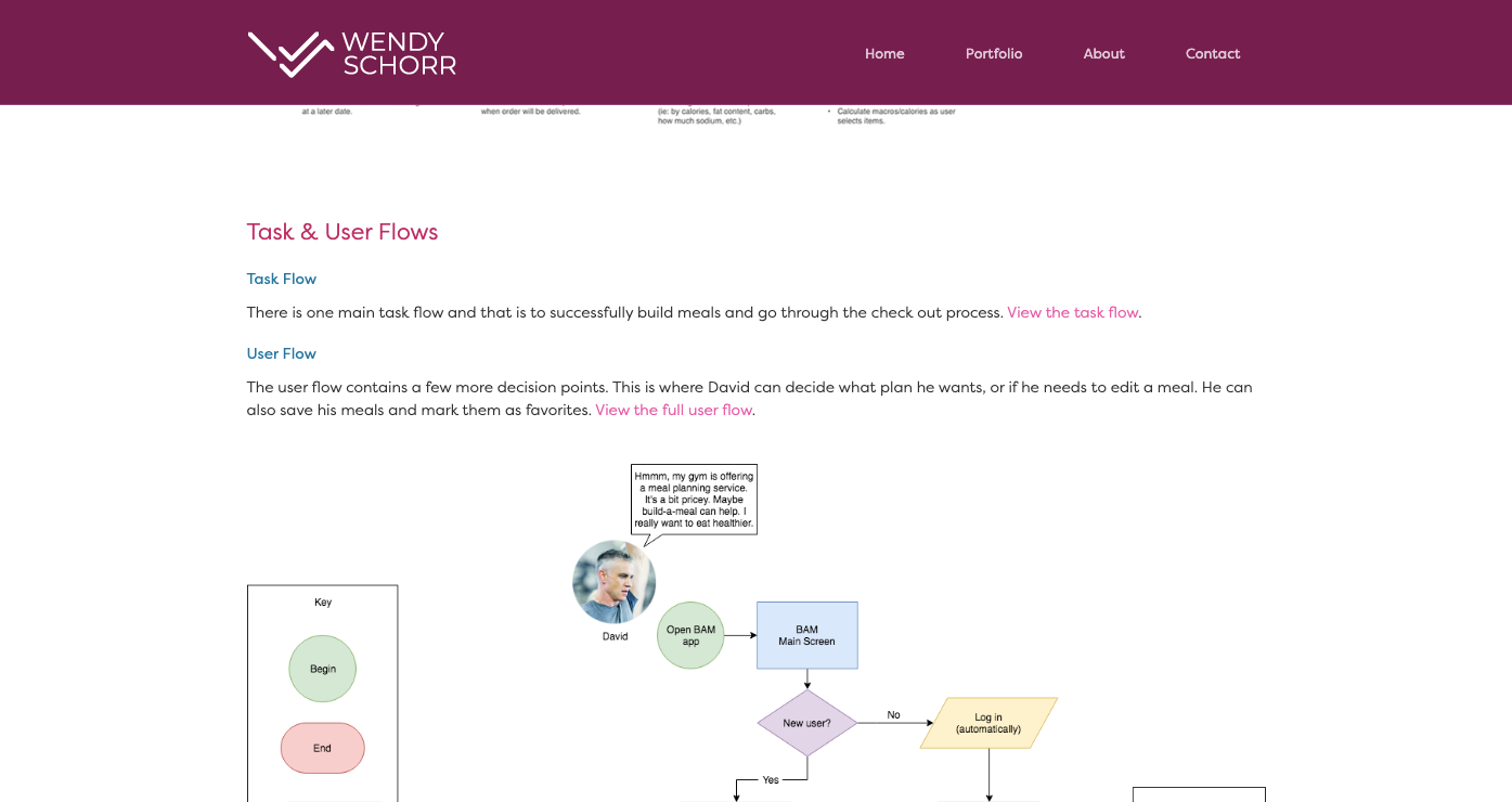 task and user flows
