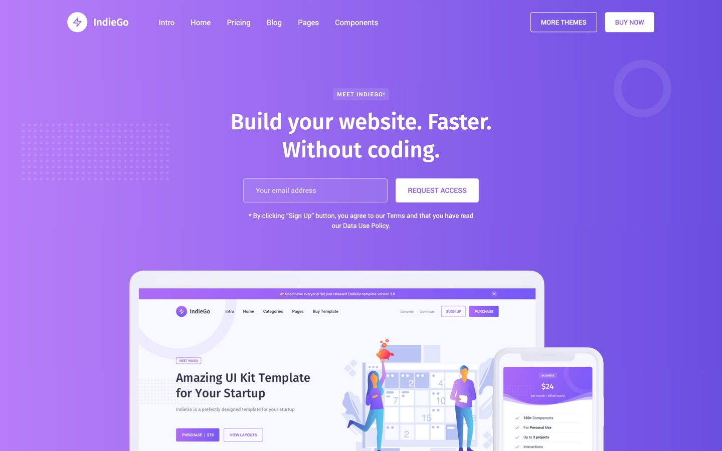 indiego template