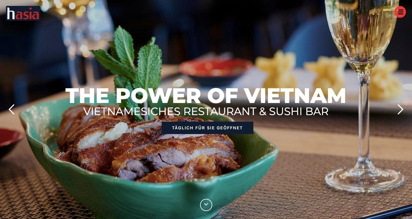 Hasia restaurant website