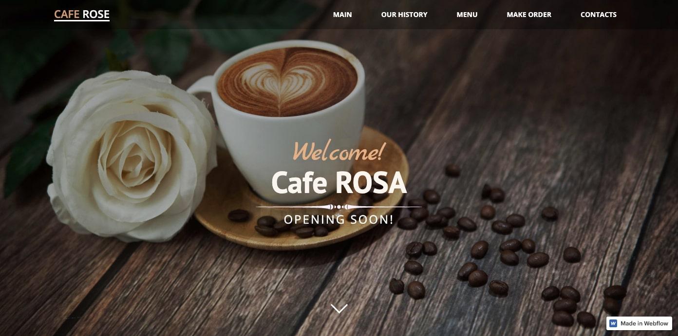 cafe rosa restaurant homepage