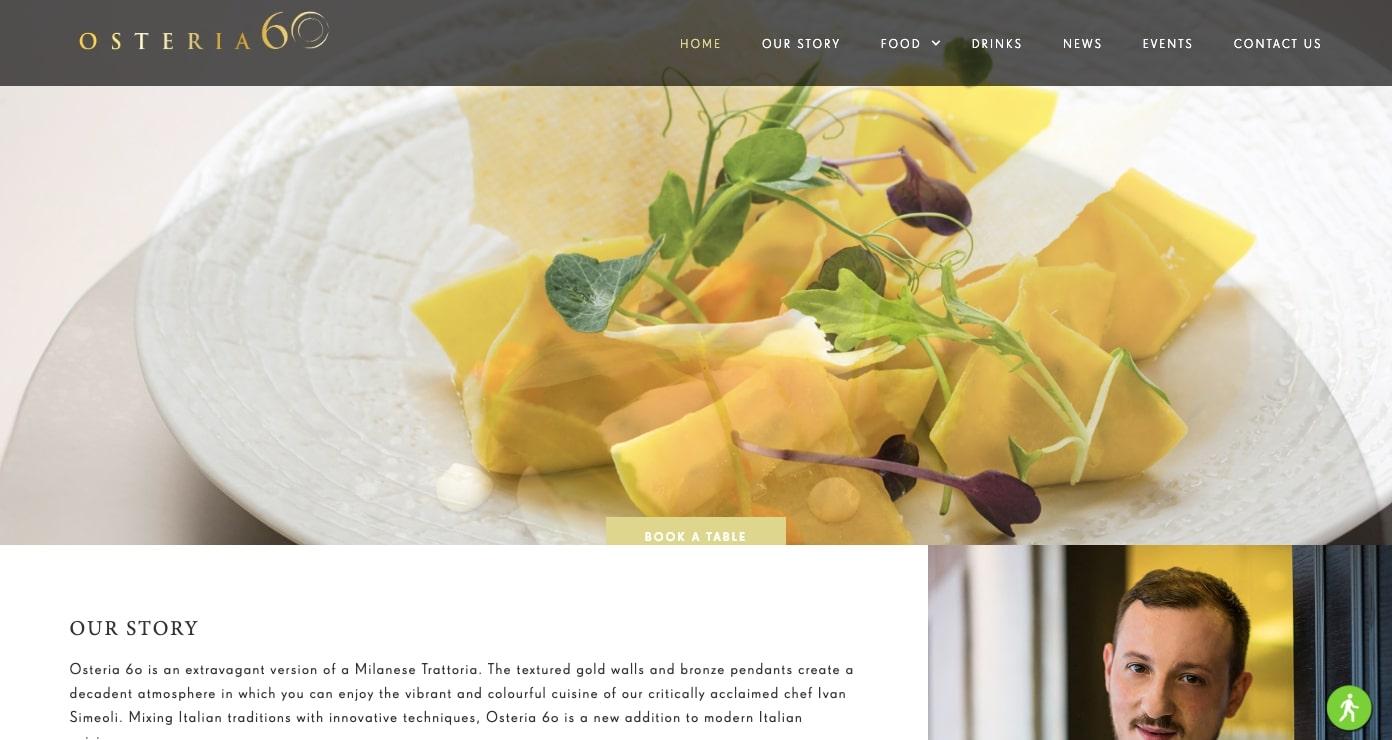 Osteria 60 restaurant site