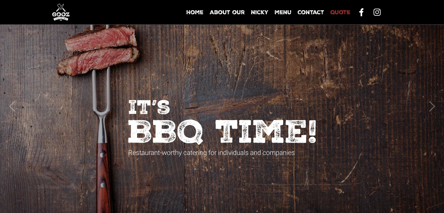 bbq time at gooz catering