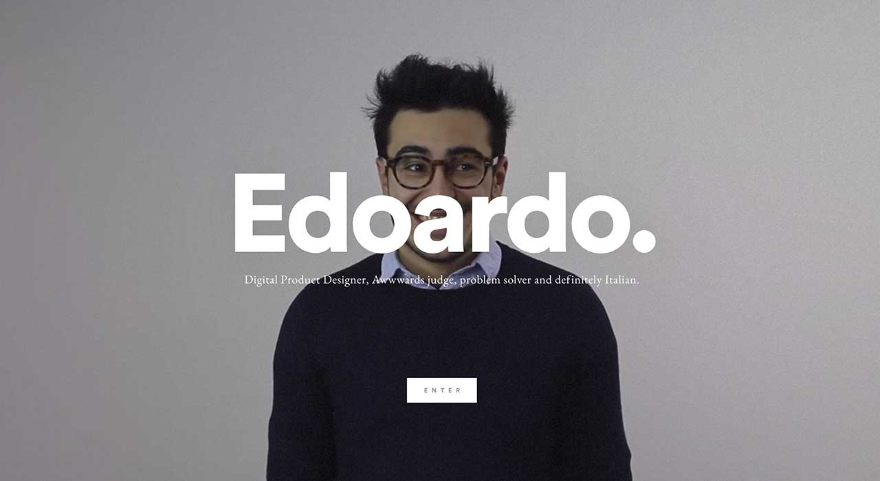 Edoardo Rainoldi's portfolio site.