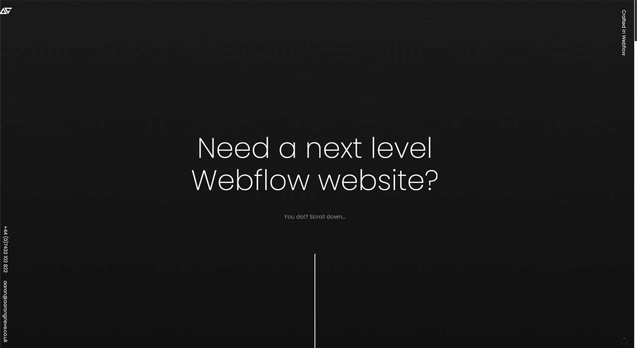 Aaron Grieve's portfolio site.