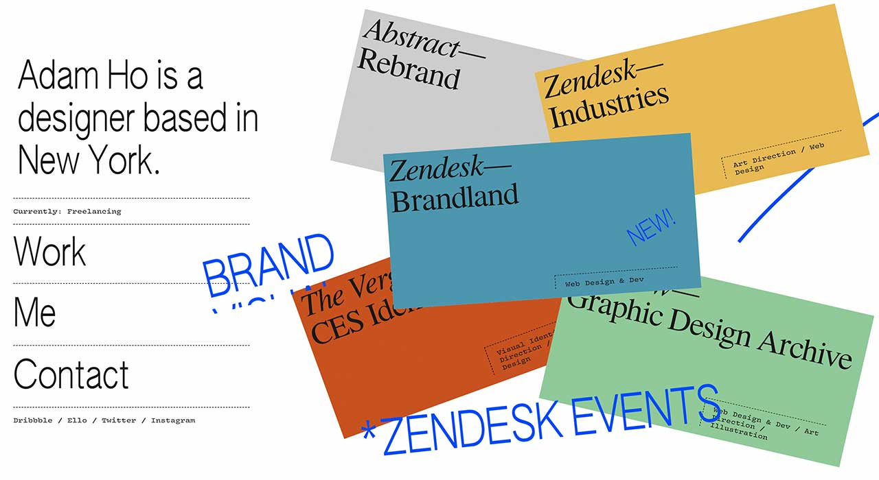 Adam Ho's portfolio site.