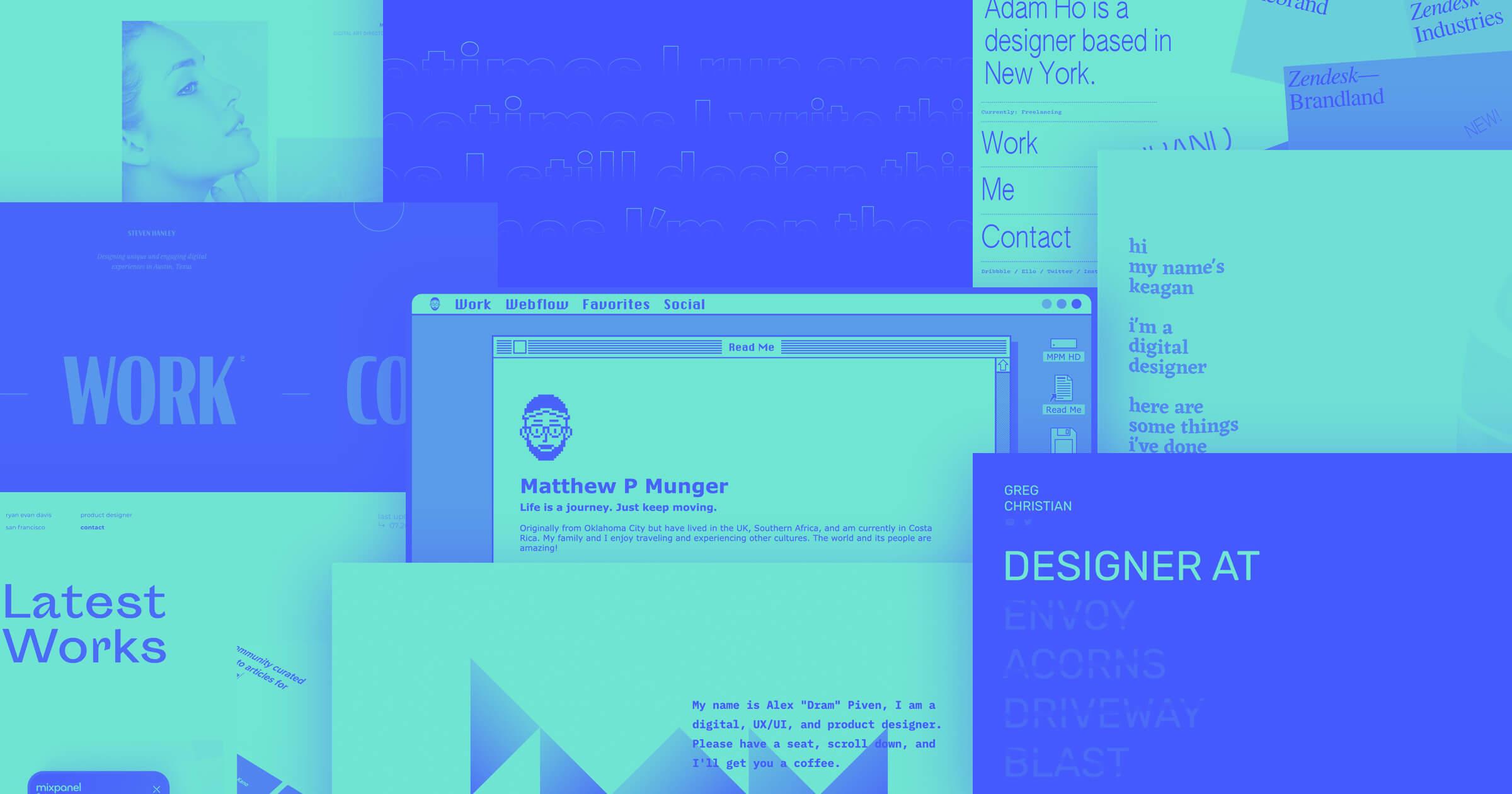 27 Unique Design Portfolio Examples Built In Webflow Webflow Blog