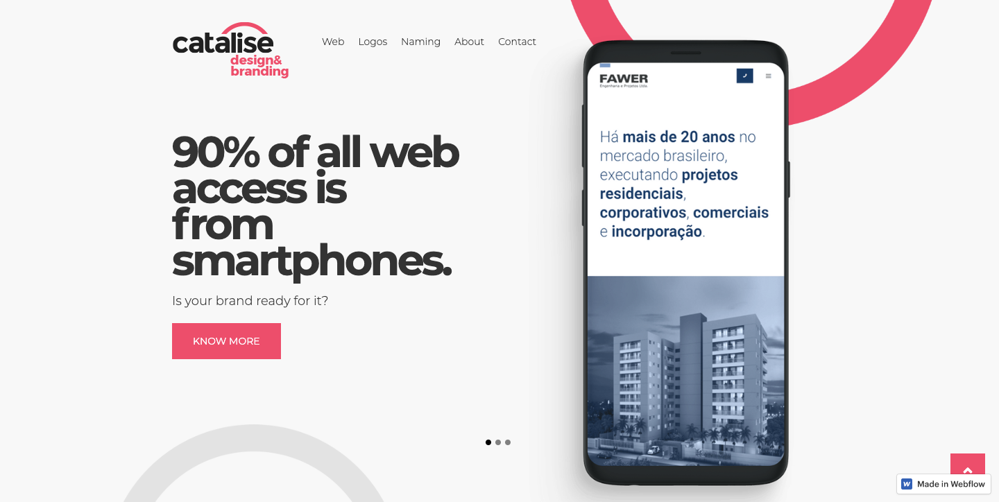 Catalise homepage.