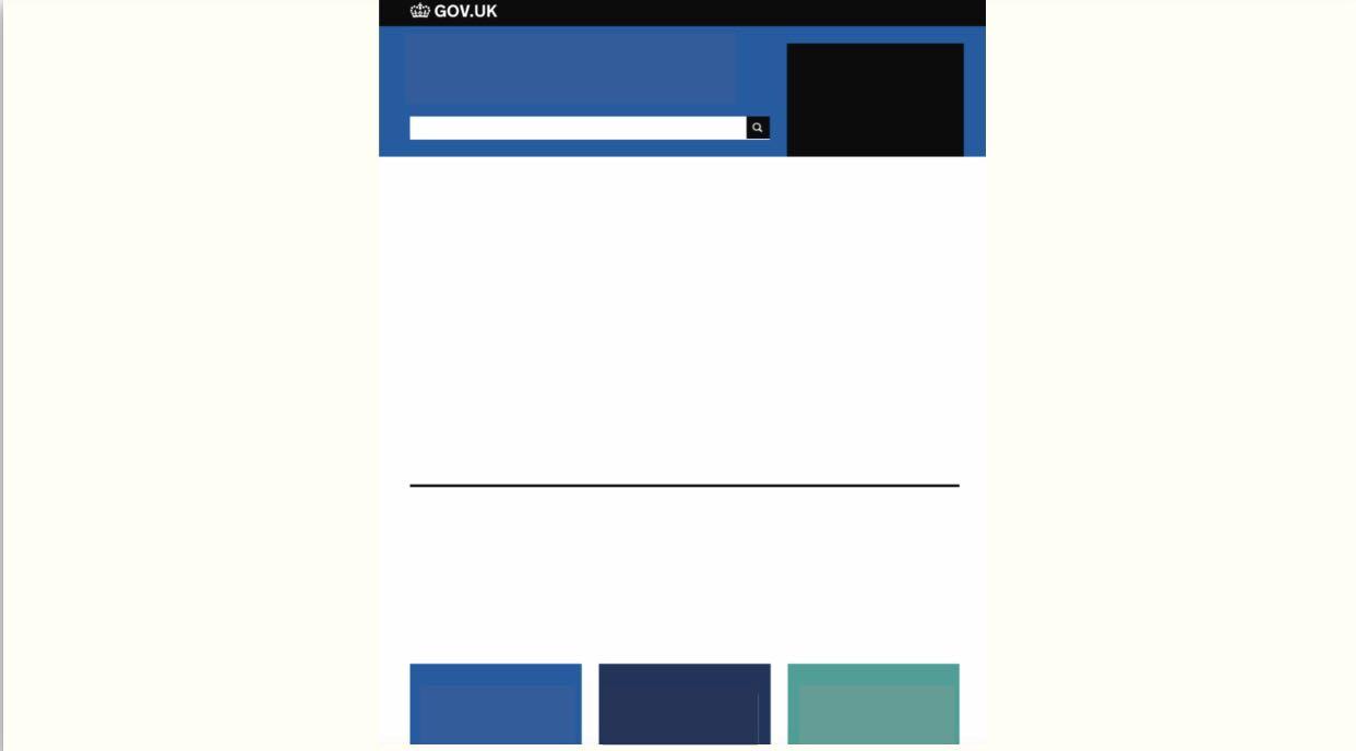 blank website