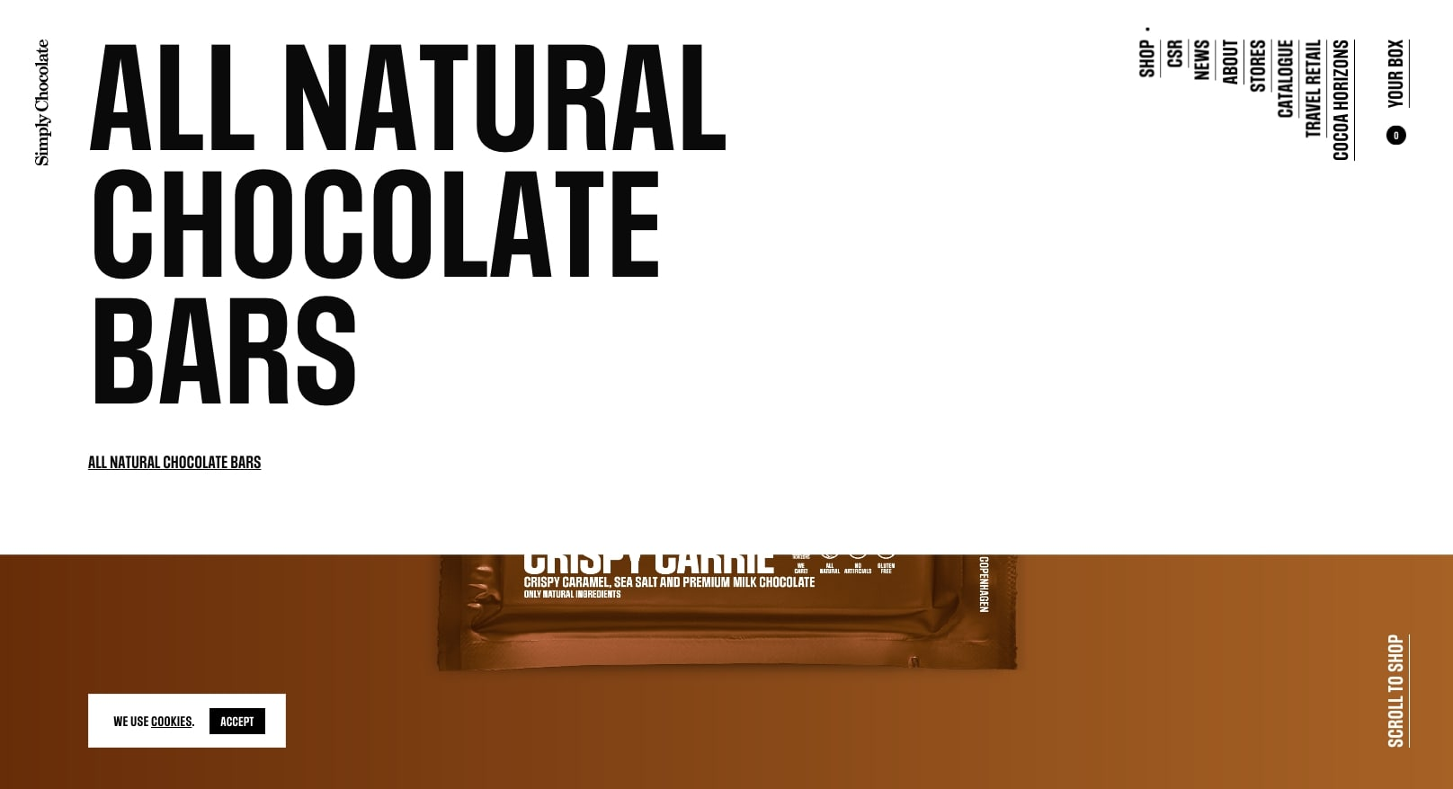 simply chocolate's website