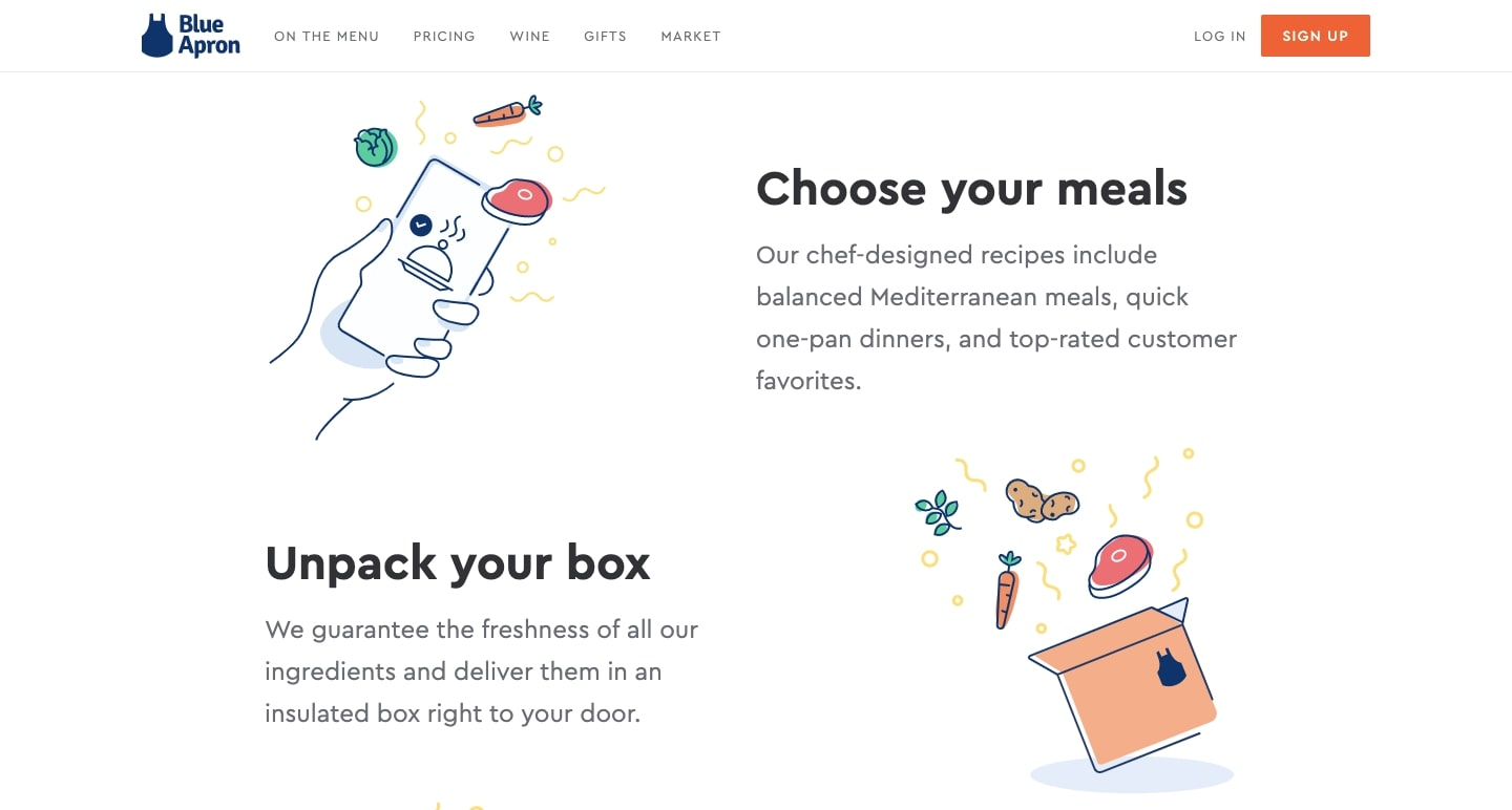 blue apron's website