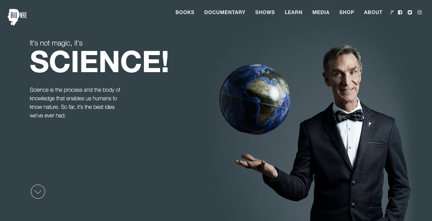 Bill Nye homepage.