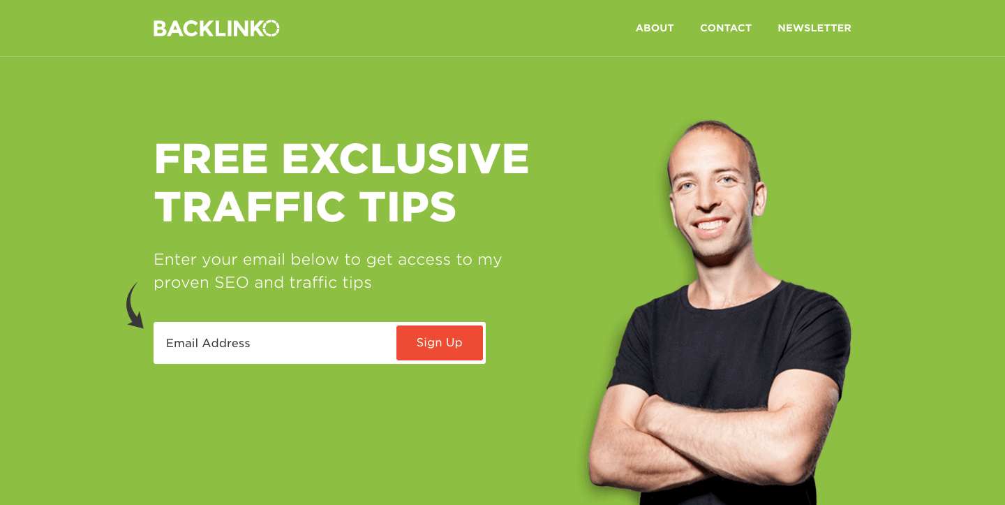 Backlinko homepage.