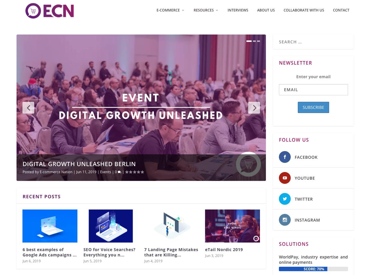 E-Commerce Nation homepage.