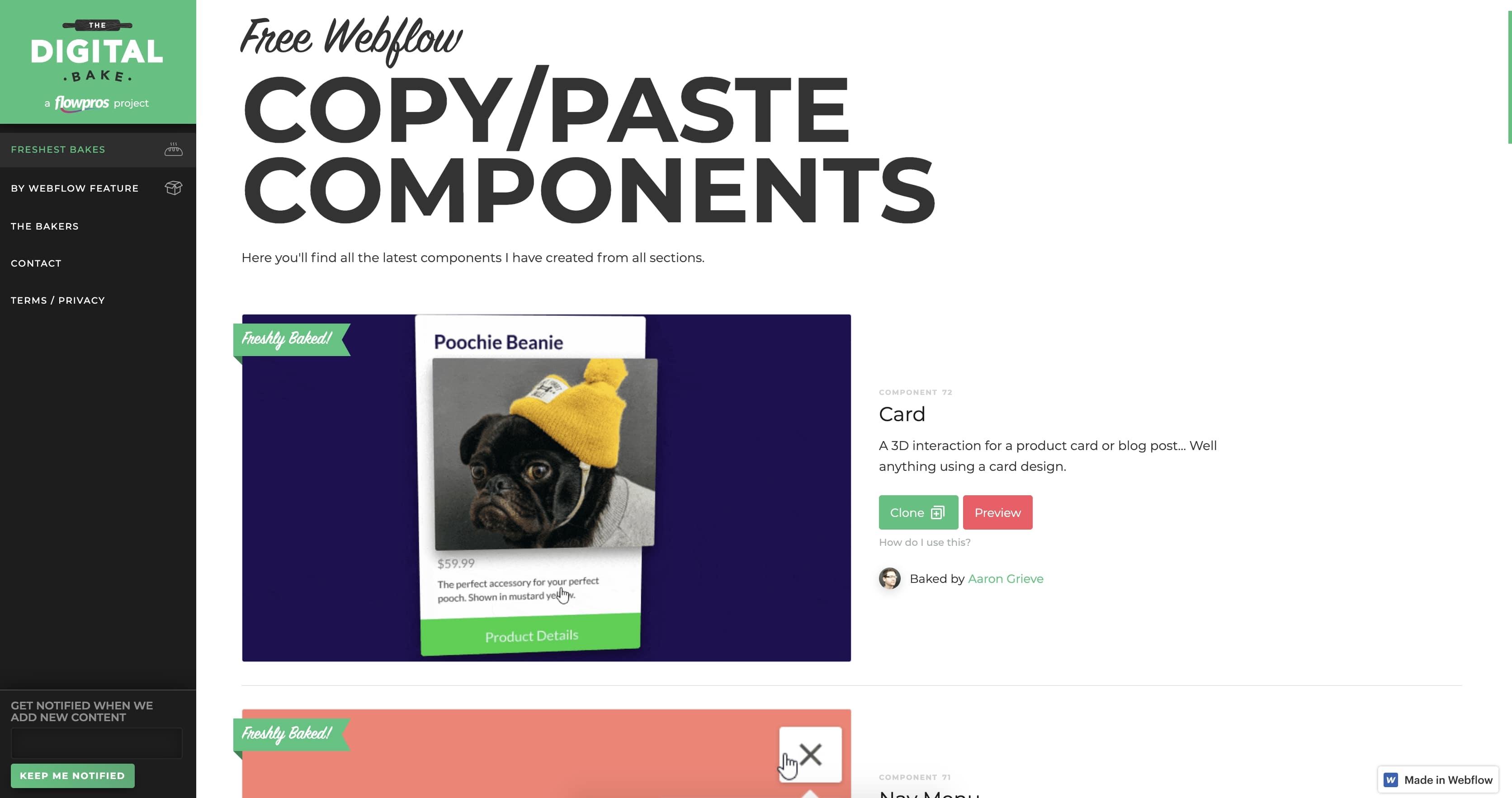 digital bake components