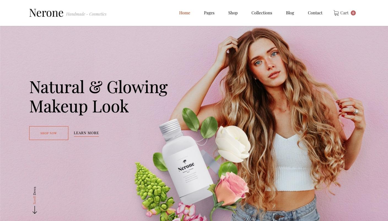 nerone website template homepage