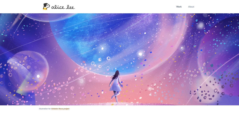 Alice Lee homepage.