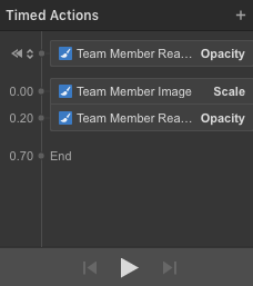"""Team Member """"Read More"""" button appears at 20 seconds and ends at 70 seconds."""