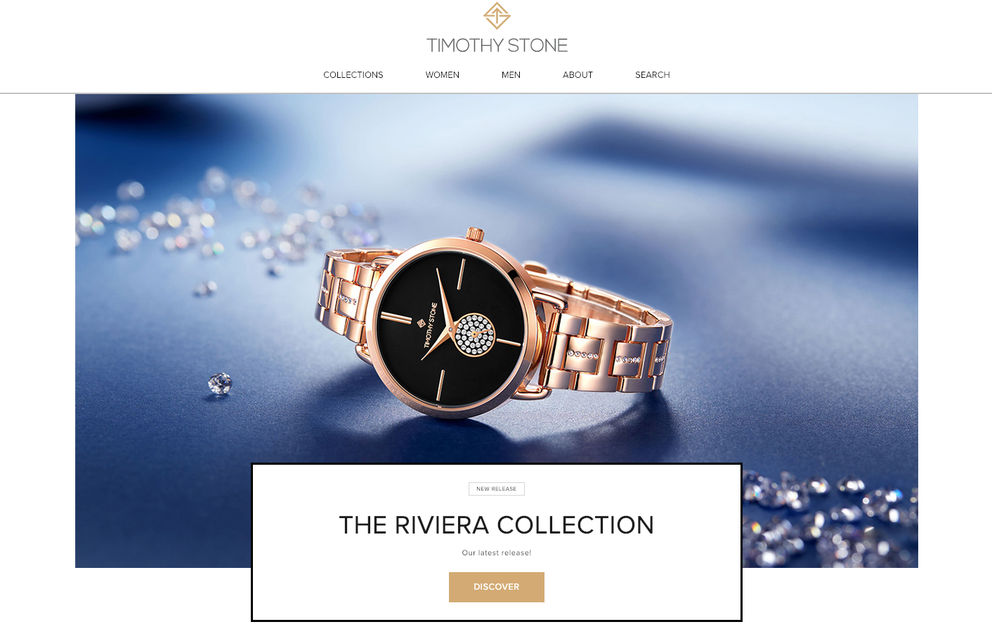 Timonthy Stone Watches homepage.