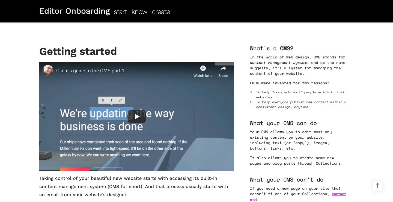 Webflow client onboarding guide.