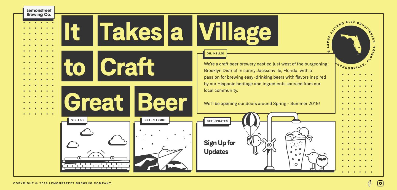Lemonstree Brewing Co homepage.