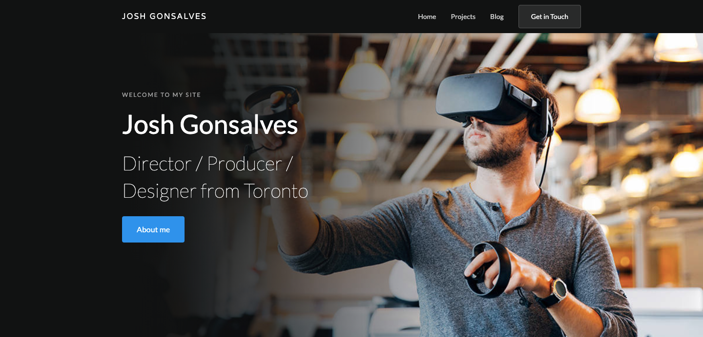Josh Gonsalves homepage.