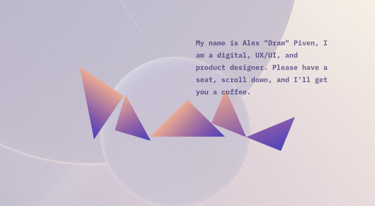 Alex Dram homepage.