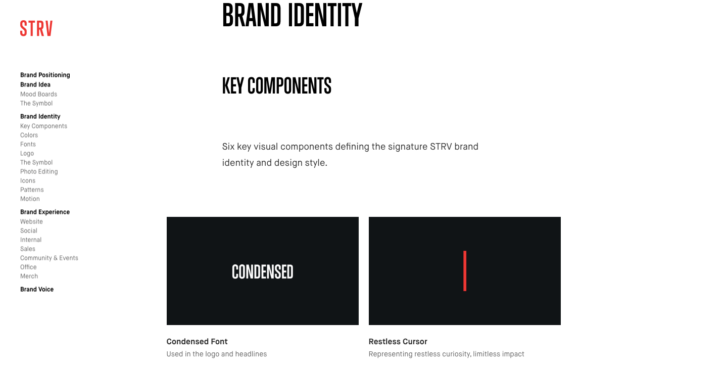 STRV's catalogue of online brand guidelines.