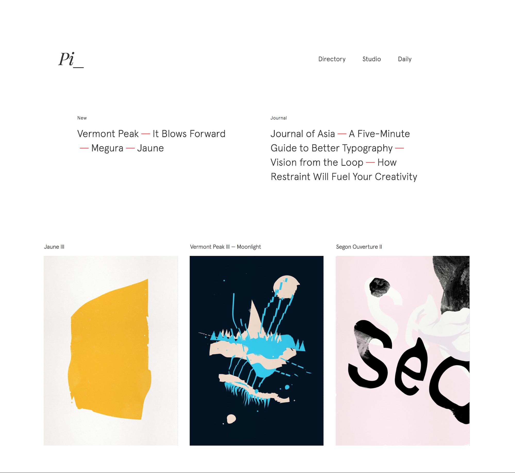 Pierrick Calvez portfolio website