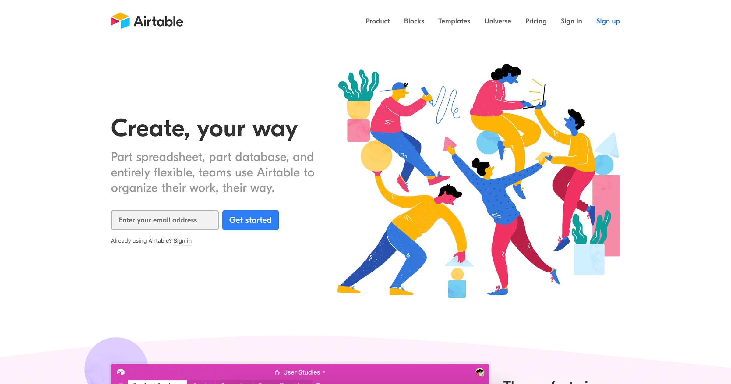 airtable home page