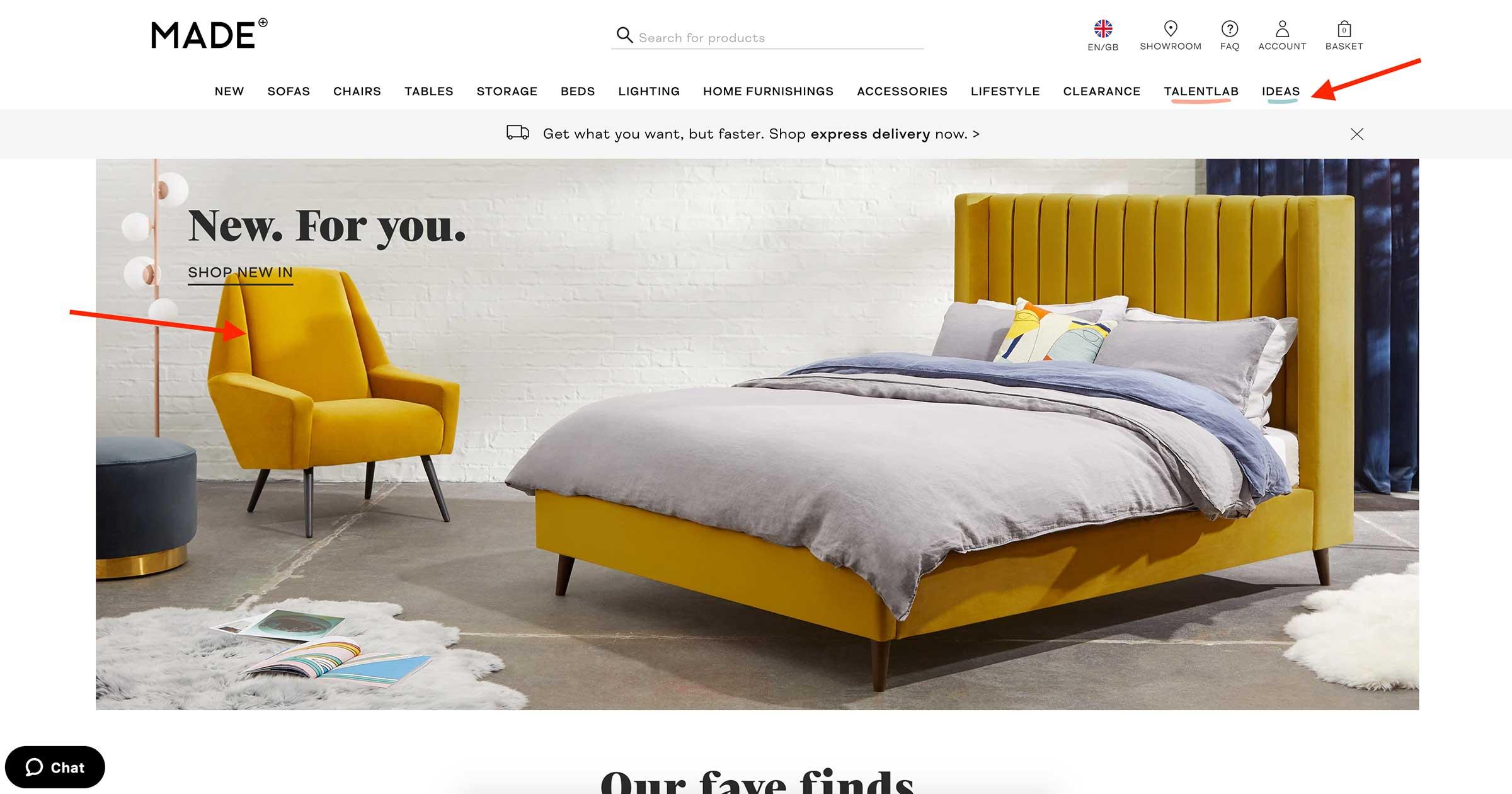 made.com home page