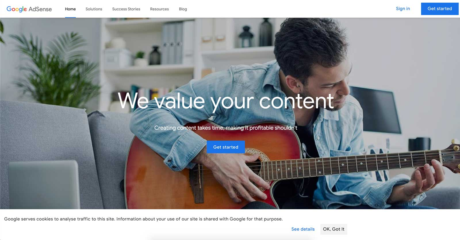 google adsense homepage design