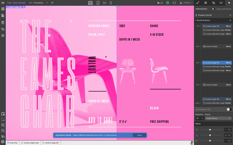Design custom product grids.