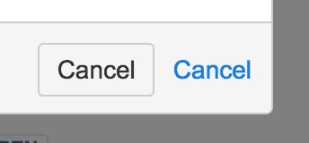 """A cacel button next to text that reads """"cancel."""""""