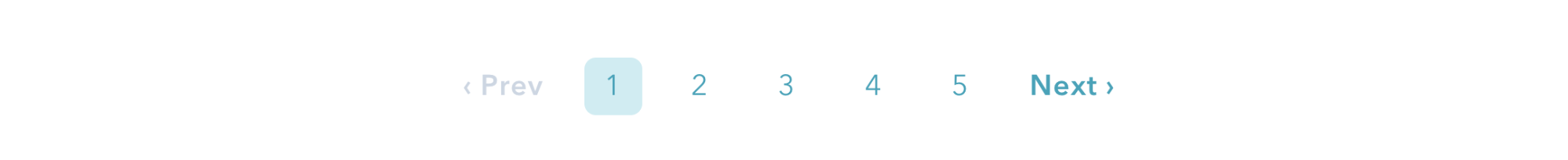 A closeup crop of HubSpot's pagination buttons at the bottom of a blog post.