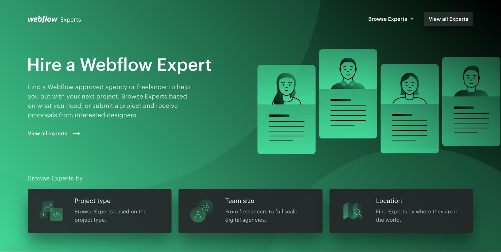 Webflow Experts hero