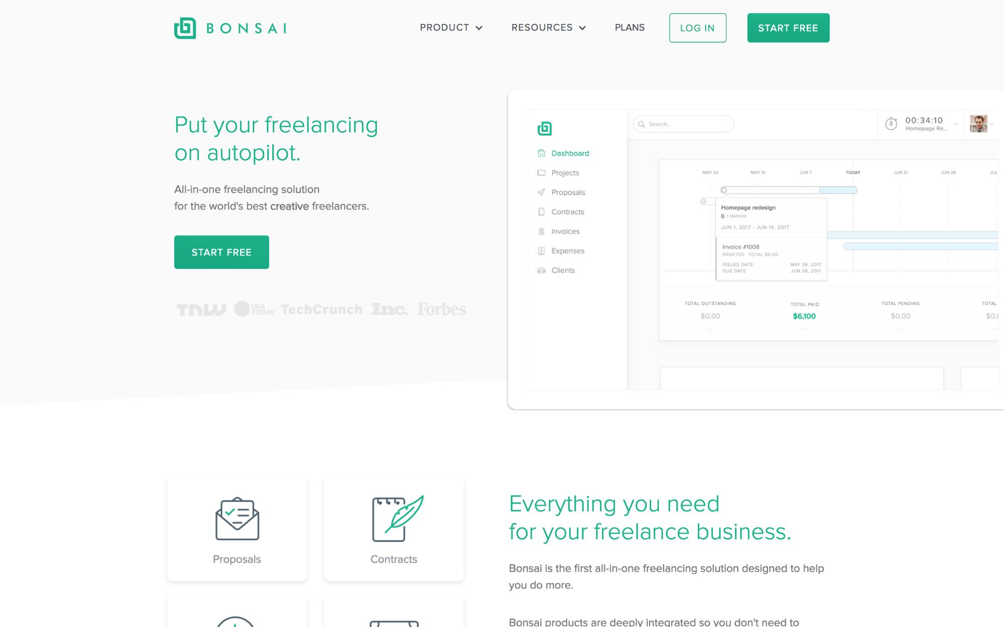 Bonsai's homepage