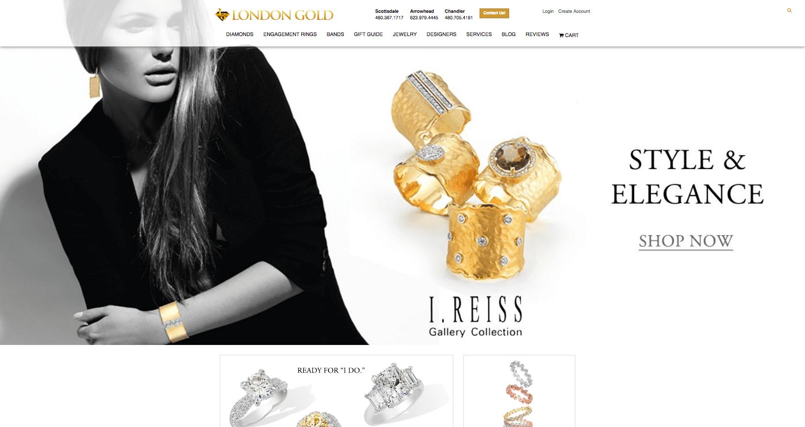 London Gold website homepage
