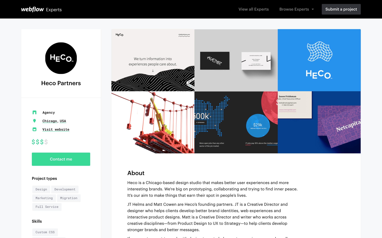 Heco Partners' Expert profile.