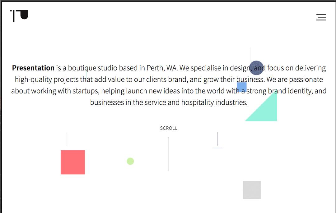 Presentation homepage