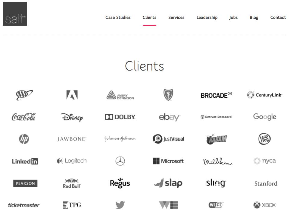 Salt client logo section